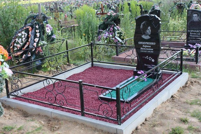 Благоустройство могил на кладбище