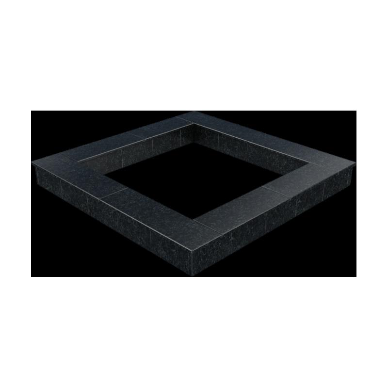 Цоколь из бетона с гранитной облицовкой полностью, арт. С1011