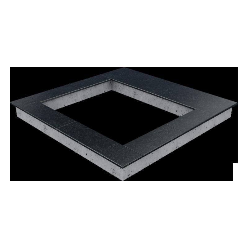 Цоколь из бетона с гранитной облицовкой сверху, арт. С1012