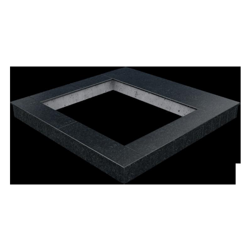 Цоколь из бетона с гранитной облицовкой сверху и снаружи, арт. С1013