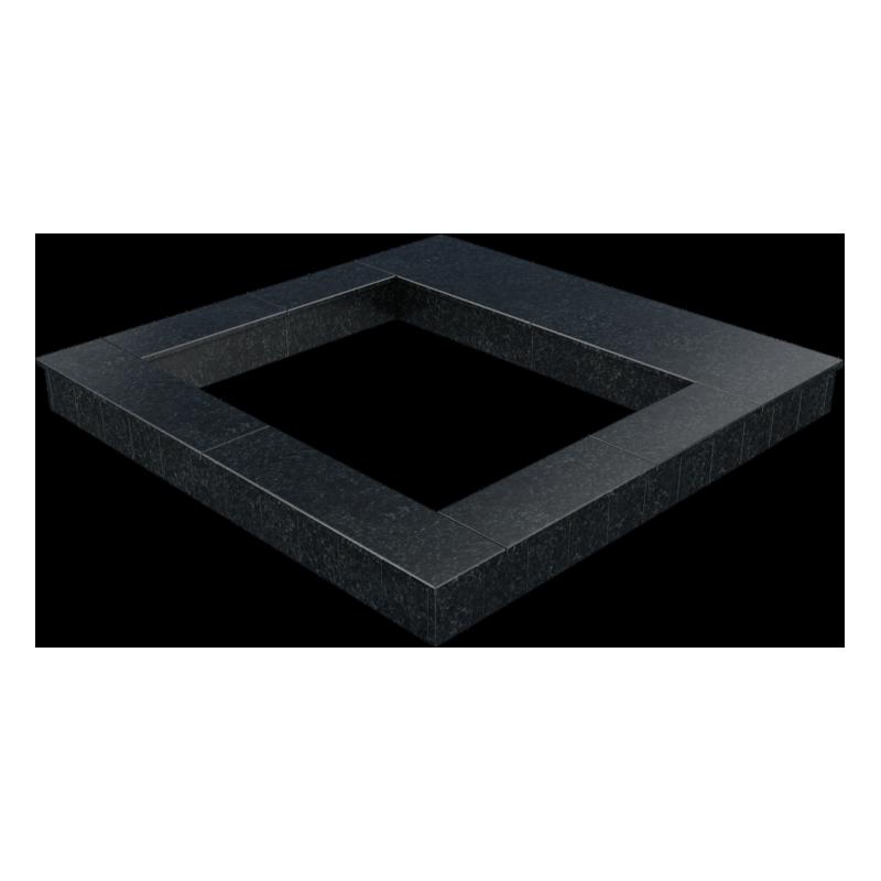 Цоколь из бетона с гранитной облицовкой полностью, арт. С1014