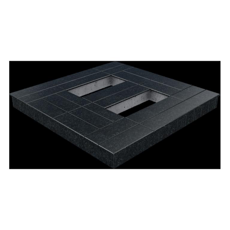 Цоколь из бетона с гранитной облицовкой сверху, арт. С1015