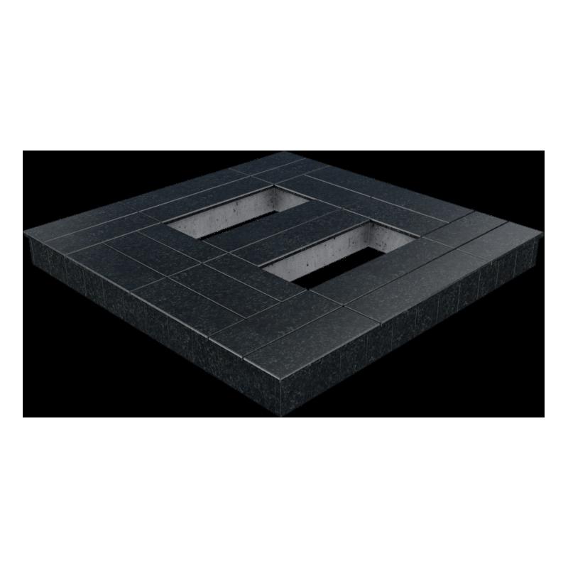 Цоколь из бетона с гранитной облицовкой сверху и снаружи, арт. С1016