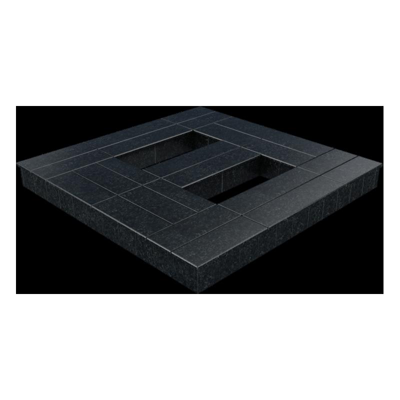 Цоколь из бетона с гранитной облицовкой полностью, арт. С1017