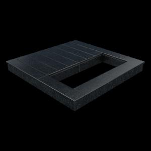 Цоколь из бетона с гранитной облицовкой полностью, арт. С1020
