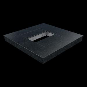 Цоколь из бетона с гранитной облицовкой сверху и снаружи, арт. С1022