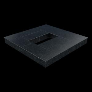 Цоколь из бетона с гранитной облицовкой полностью, арт. С1023