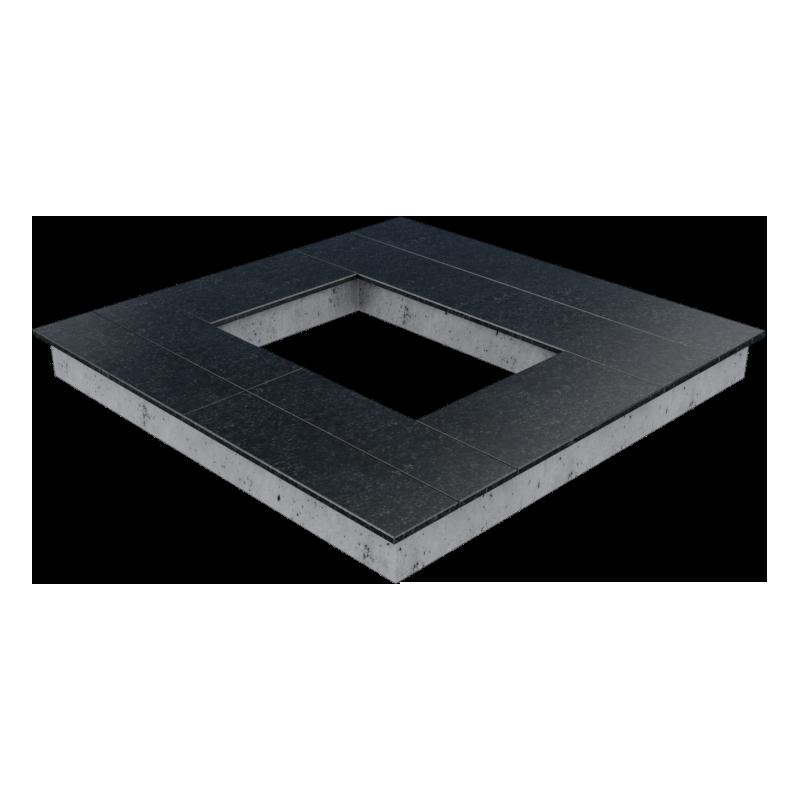 Цоколь из бетона с гранитной облицовкой сверху, арт. С1024