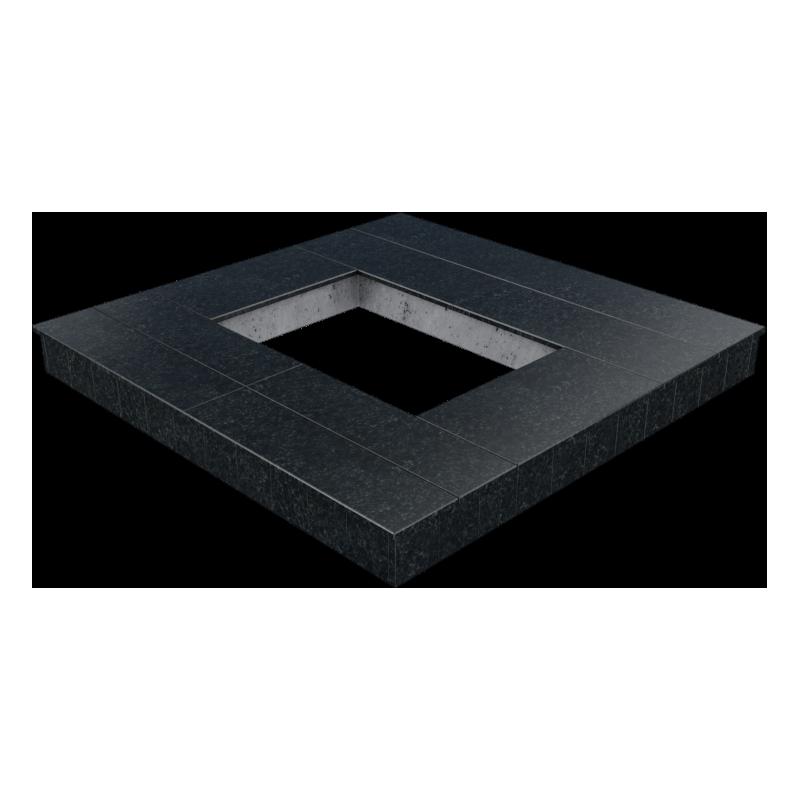 Цоколь из бетона с гранитной облицовкой сверху и снаружи, арт. С1025