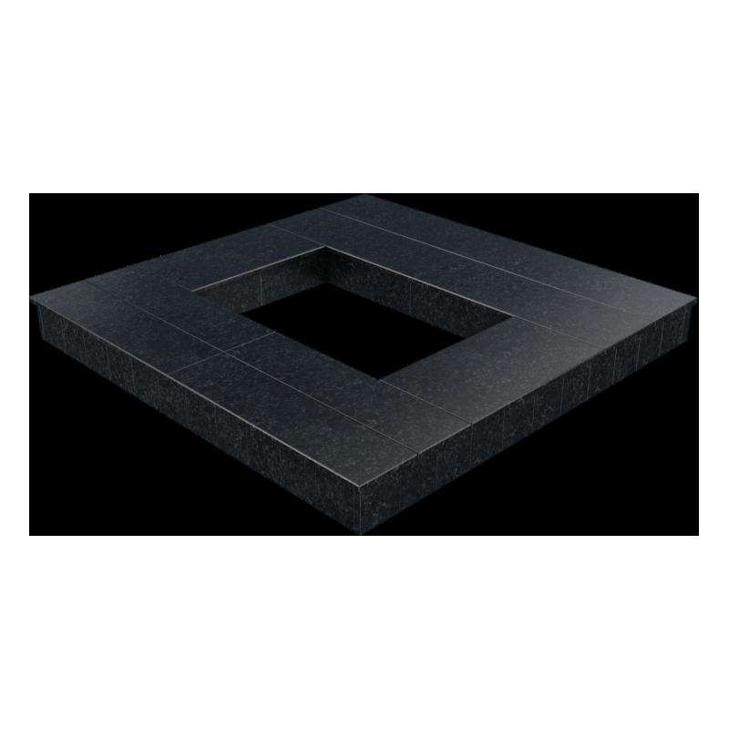 Цоколь из бетона с гранитной облицовкой полностью, арт. С1026