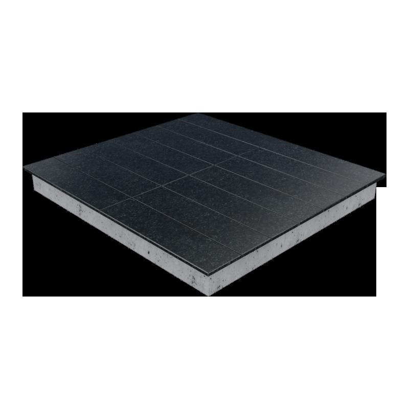 Цоколь из бетона с гранитной облицовкой сверху, арт. С1027