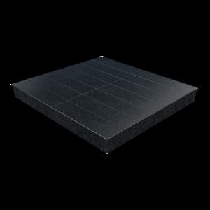 Цоколь из бетона с гранитной облицовкой сверху и снаружи, арт. С1028
