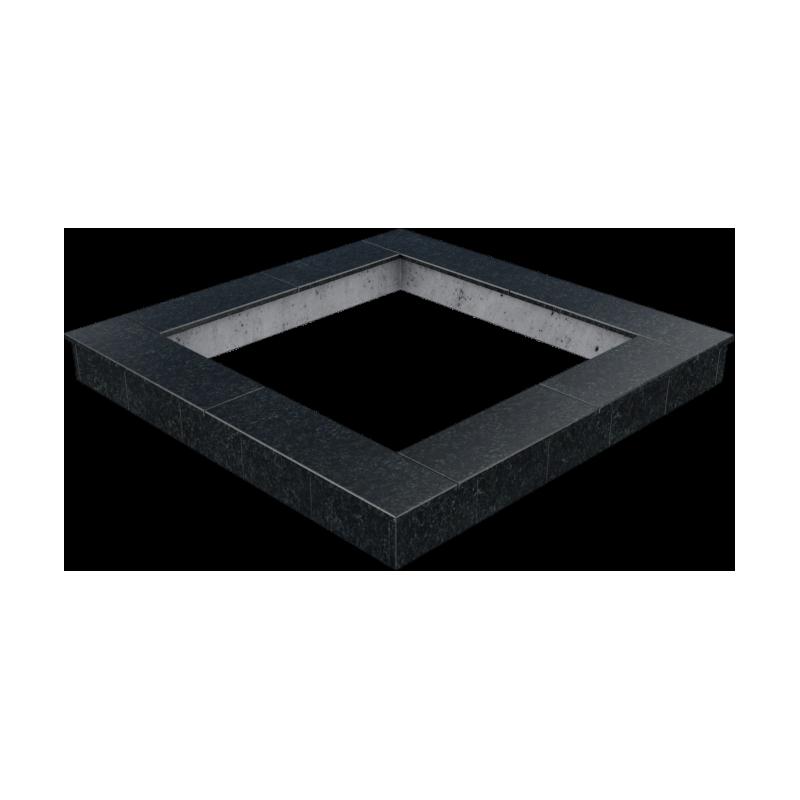 Цоколь из бетона с гранитной облицовкой сверху и снаружи, арт. С1010