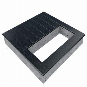 Цоколь из бетона с гранитной облицовкой сверху, арт. С1018