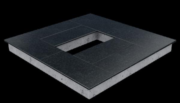 Цоколь из бетона с гранитной облицовкой сверху, арт. С1021