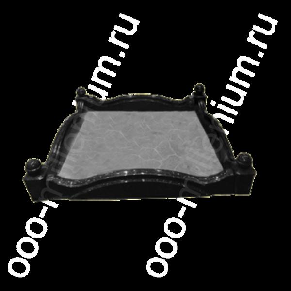 Цоколь из литьевого мрамора (фигурный) 2х2, арт. ЦЛ2