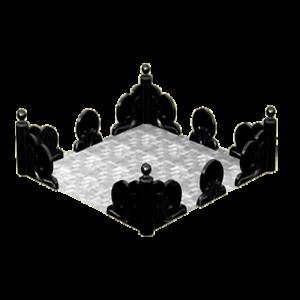 Цоколь фигурный из литьевого мрамора, арт. ЦЛ3