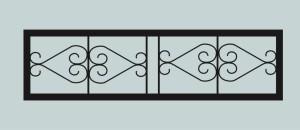 Ограда для могилы сварная металлическая, арт. ОГ020