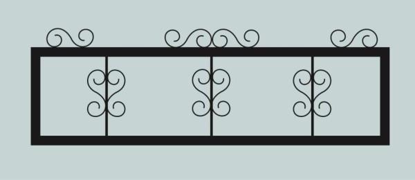 Ограда для могилы сварная металлическая, арт. ОГ021