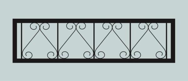 Ограда для могилы сварная металлическая, арт. ОГ022