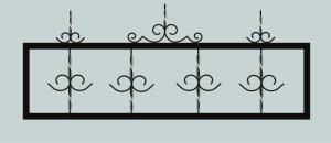 Ограда для могилы сварная металлическая, арт. ОГ023