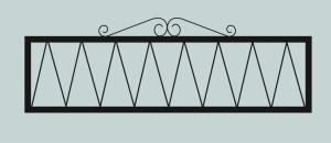 Ограда для могилы сварная металлическая, арт. ОГ026