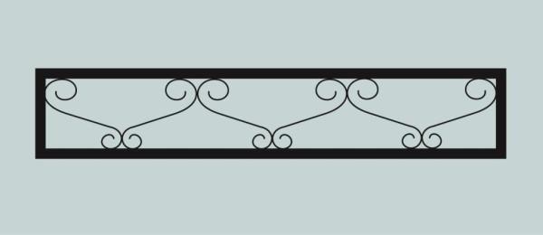 Ограда для могилы сварная металлическая, арт. ОГ027