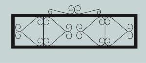 Ограда для могилы сварная металлическая, арт. ОГ014