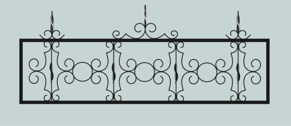 Ограда для могилы сварная металлическая, арт. ОГ049