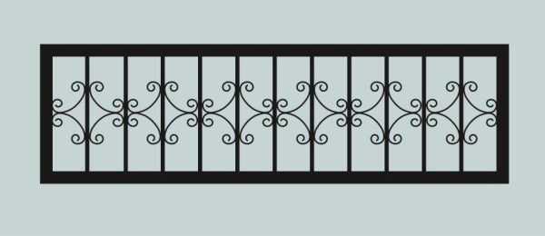 Ограда для могилы сварная металлическая, арт. ОГ052