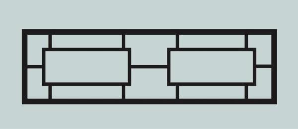 Ограда для могилы сварная металлическая, арт. ОГ032