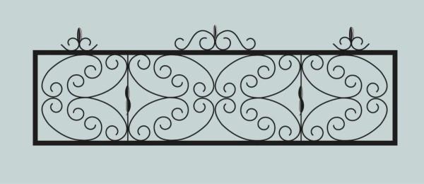 Ограда для могилы сварная металлическая, арт. ОГ050