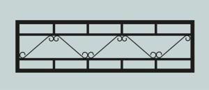 Ограда для могилы сварная металлическая, арт. ОГ013