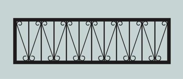 Ограда для могилы сварная металлическая, арт. ОГ054