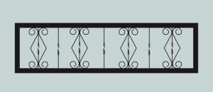 Ограда для могилы сварная металлическая, арт. ОГ033