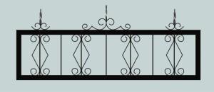 Ограда для могилы сварная металлическая, арт. ОГ055
