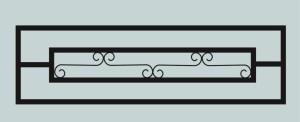 Ограда для могилы сварная металлическая, арт. ОГ035