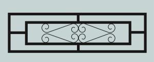 Ограда для могилы сварная металлическая, арт. ОГ036