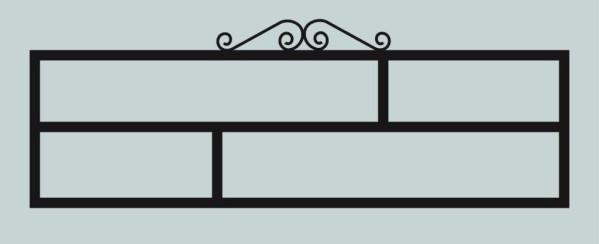Ограда для могилы сварная металлическая, арт. ОГ056