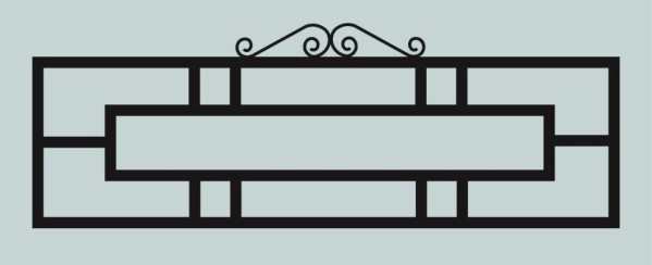Ограда для могилы сварная металлическая, арт. ОГ037