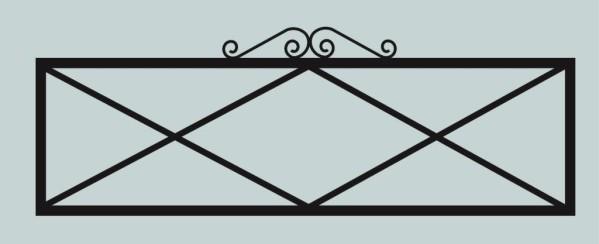 Ограда для могилы сварная металлическая, арт. ОГ038