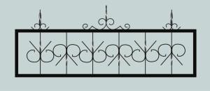 Ограда для могилы сварная металлическая, арт. ОГ015