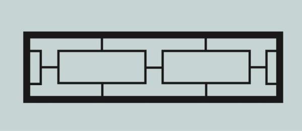 Ограда для могилы сварная металлическая, арт. ОГ017