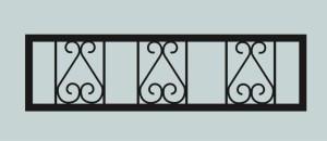Ограда для могилы сварная металлическая, арт. ОГ016