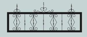 Ограда для могилы сварная металлическая, арт. ОГ019