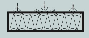 Ограда для могилы сварная металлическая, арт. ОГ051