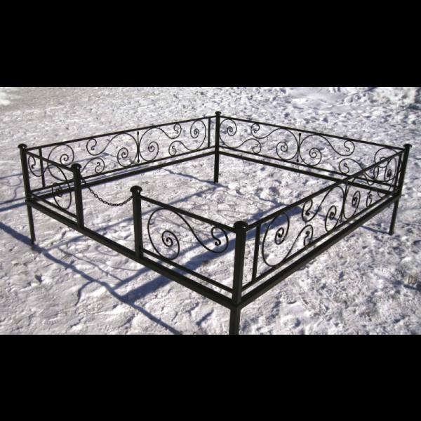 Ограда для могилы - Бриз (цоколь), арт. ОГ002