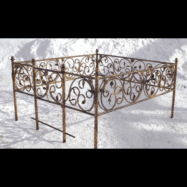 Ограда для могилы - Элегия (без цоколя), арт. ОГ084