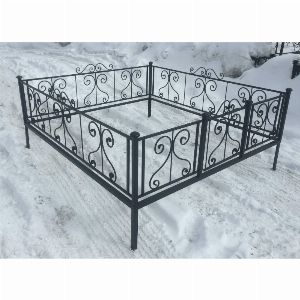 Ограда для могилы - Капля (цоколь), арт. ОГ010