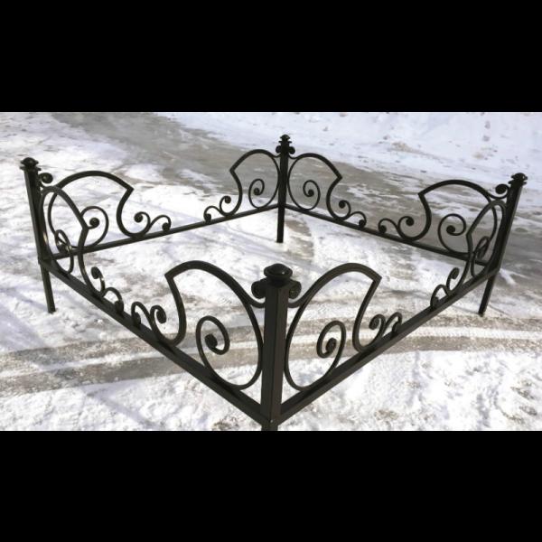 Ограда для могилы - Карета, арт. ОГ062